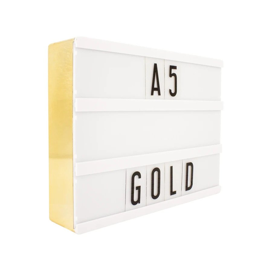 A5 Cinematic Lightbox - Gold