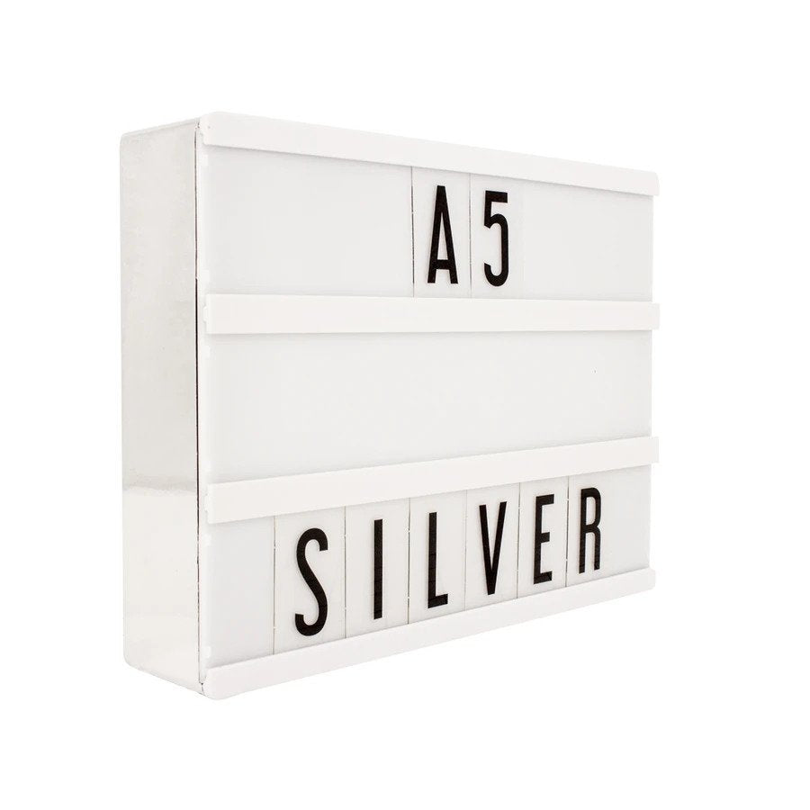 A5 Cinematic Lightbox - Silver