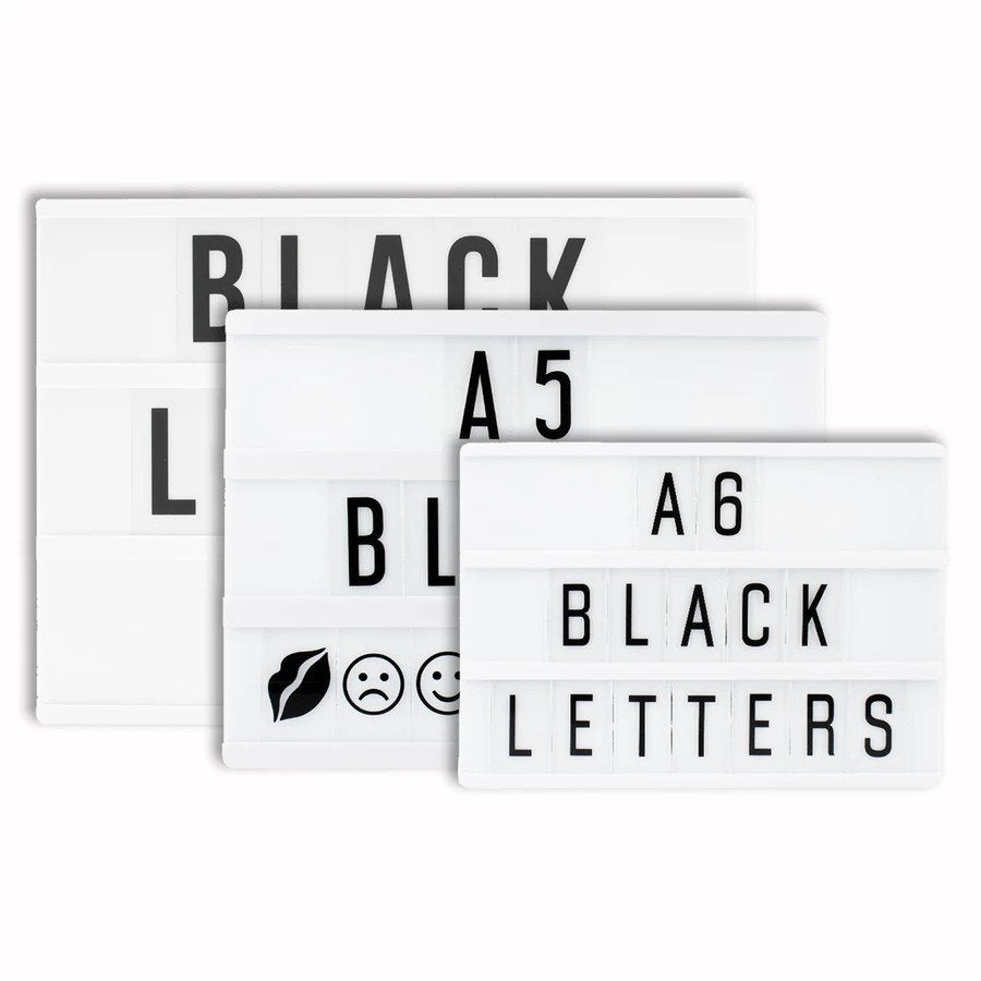 A5 Black Extra Letter Pack