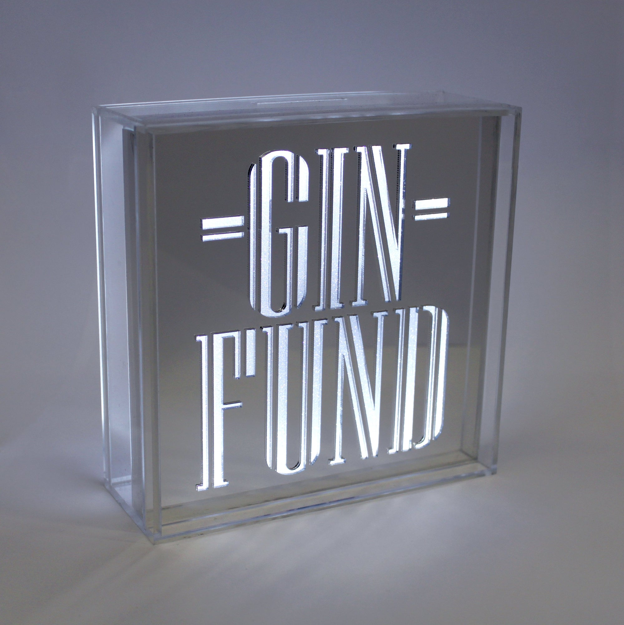 Money Box Acrylic Box LED - Gin Fund