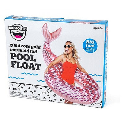 Giant Rose Gold Mermaid Tail Pool Float