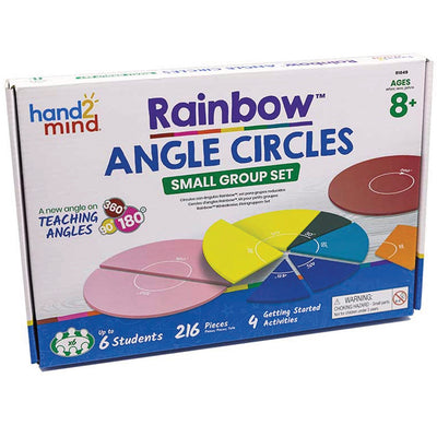 Learning Resources Rainbow Angle Circles (Set Of 6)
