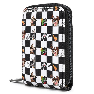 Looney Tunes BLK/WHT Check Accordion Card Holder