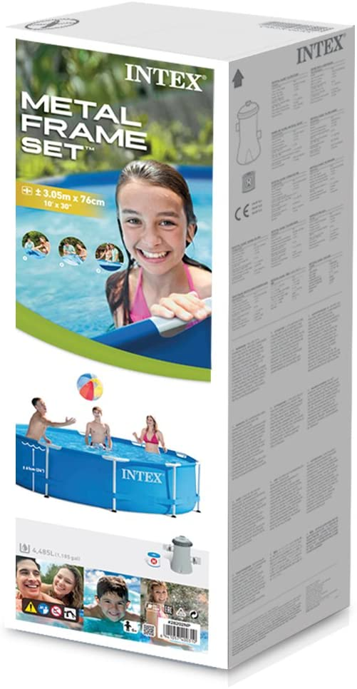 "John Adams 10' x 30"" Metal Frame Pool Set"