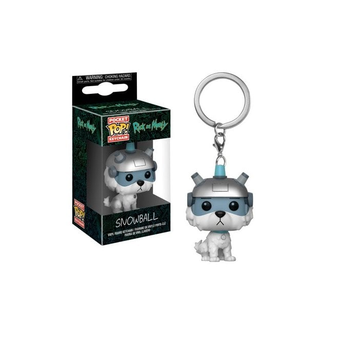 Rick and Morty - Snowball Pocket Pop! Keychain