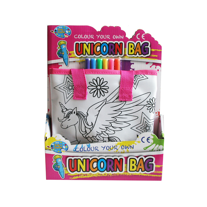 CYO Unicorn Handbag With 6 Pens