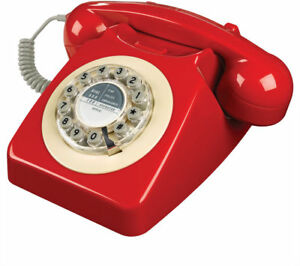 Wild and Wolf 746 Corded Phone | Red