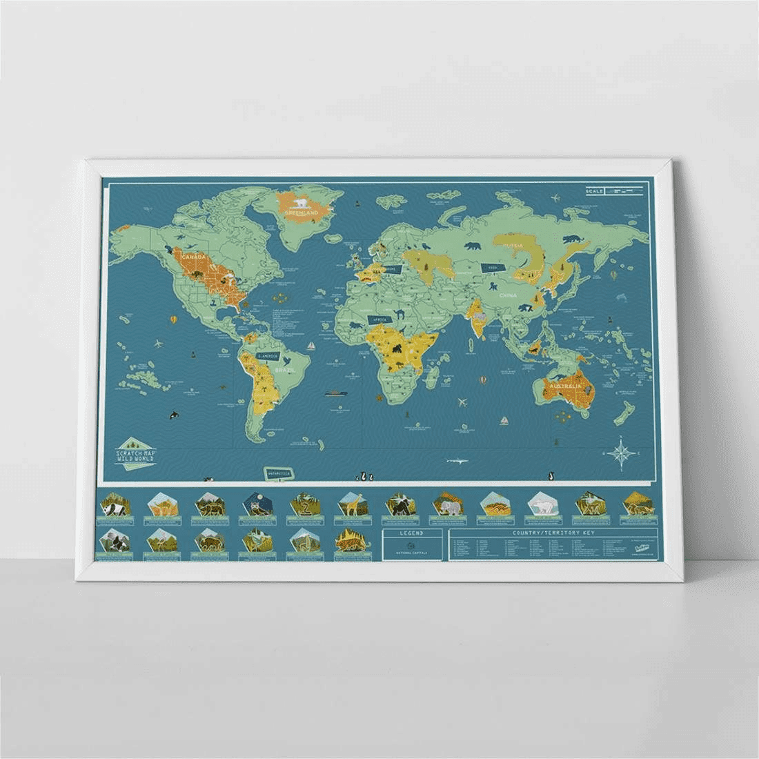 Luckies Scratch Map Wild World