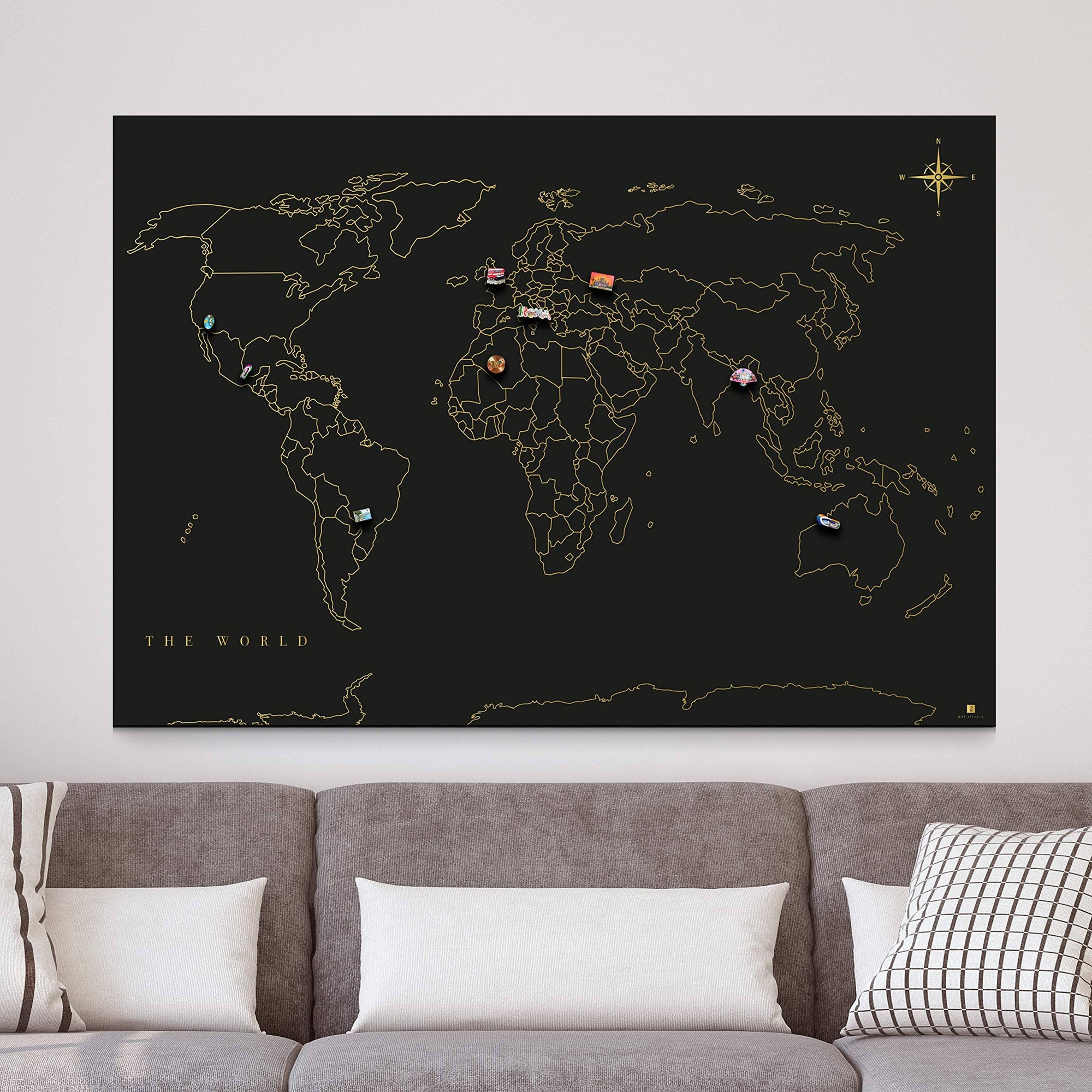 Magnetic Wall Travel Map