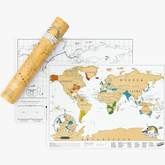 Scratch Map - Travel Edition