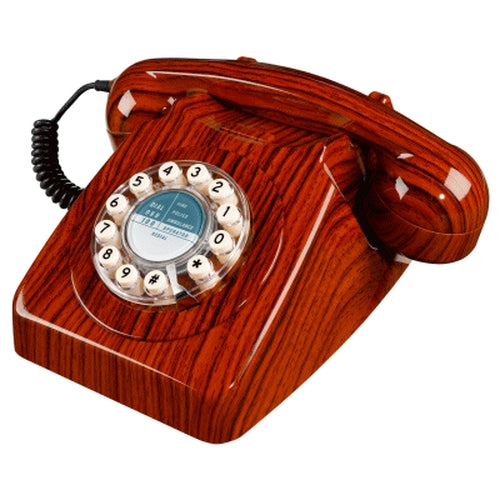 Wild and Wolf 746 Corded Phone | Wood