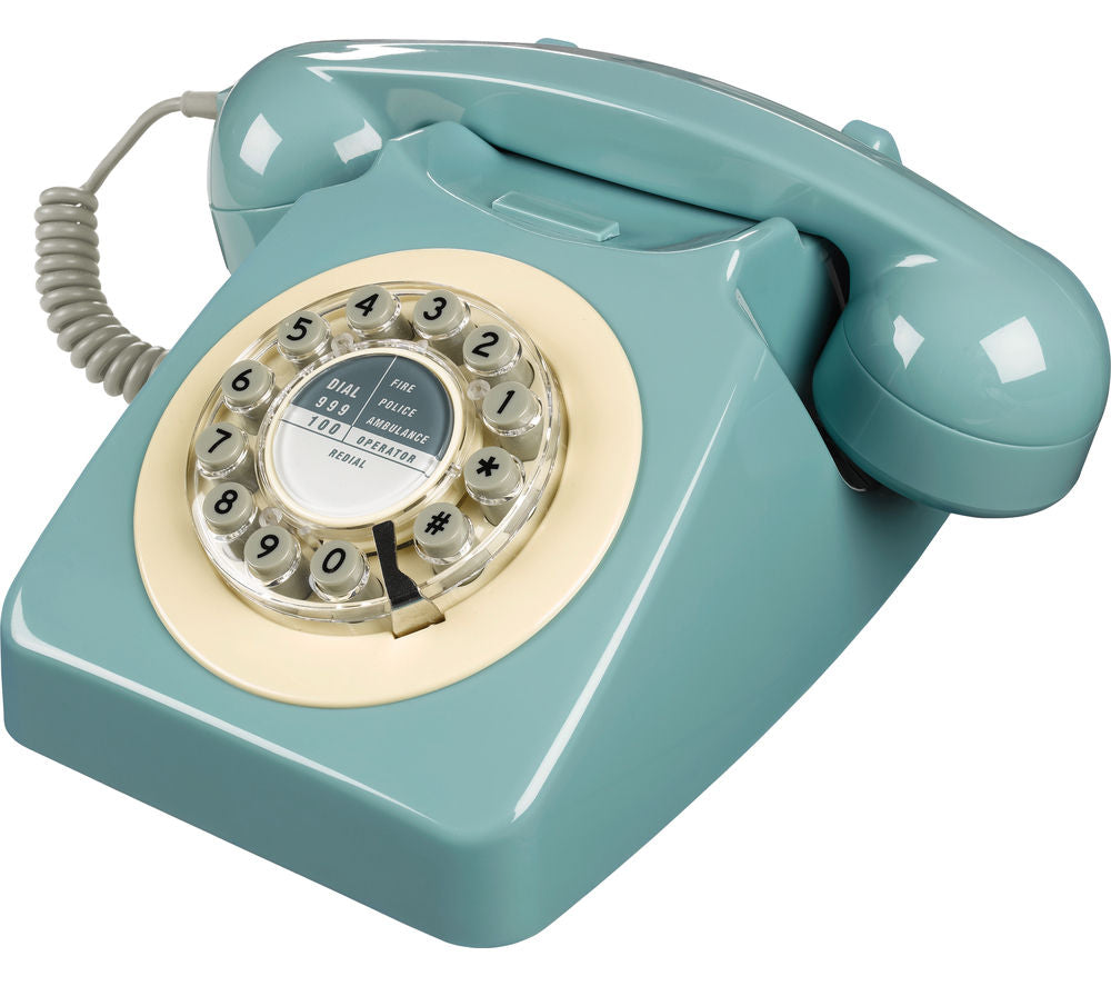 Wild and Wolf 746 Corded Phone | French Blue