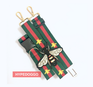 Gucci styled Bee Leash and Collar for Dogs
