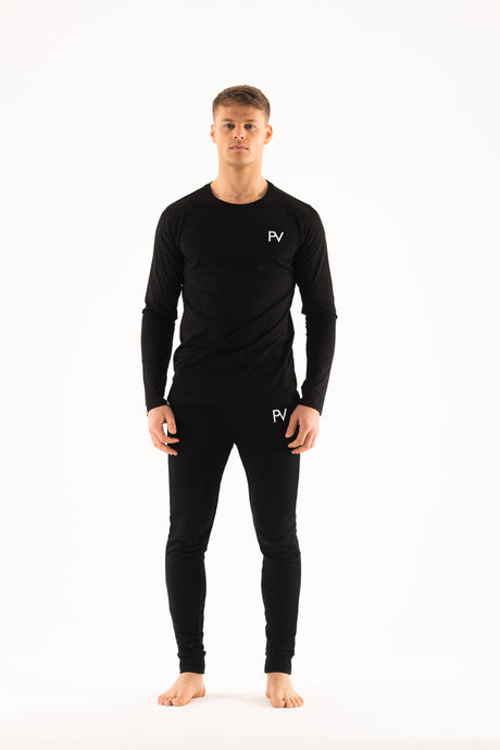 Black long sleeve & Slim jogger Loungewear set