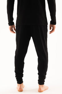 Black long sleeve & Drop crotch Loungewear set