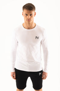 White long sleeve & Shorts Loungewear set