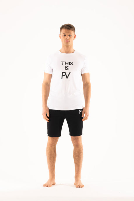 'This is PV' short sleeve & Shorts Loungewear set