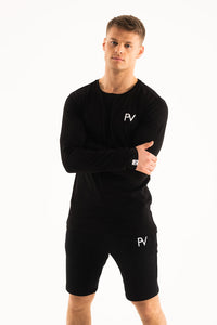 Black long sleeve & Shorts Loungewear set