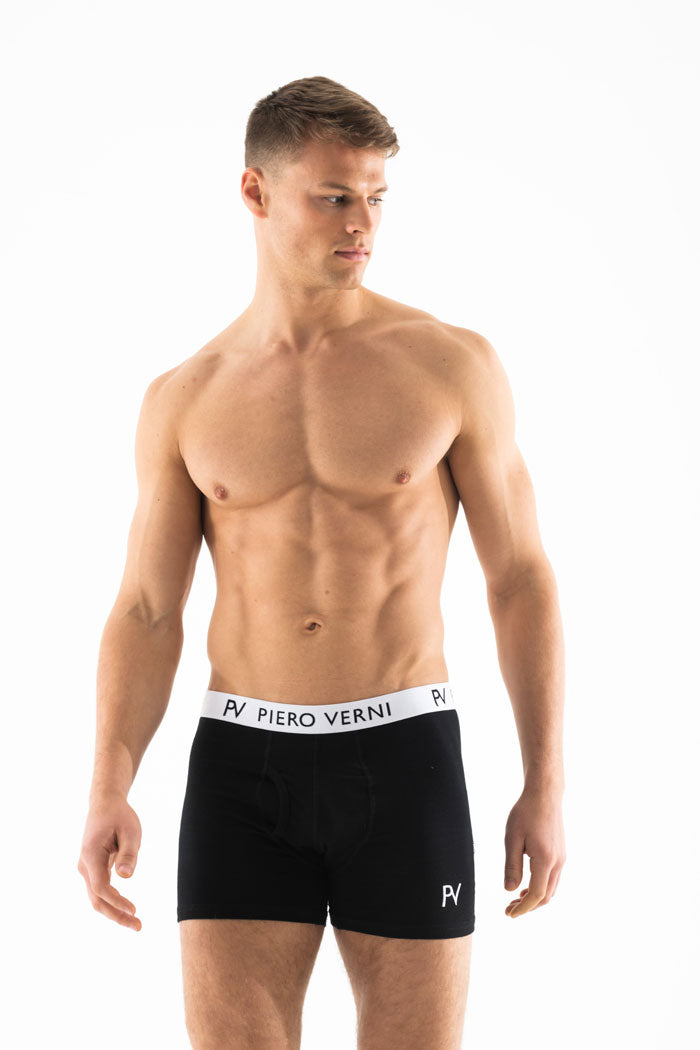Black Men's Boxer Shorts