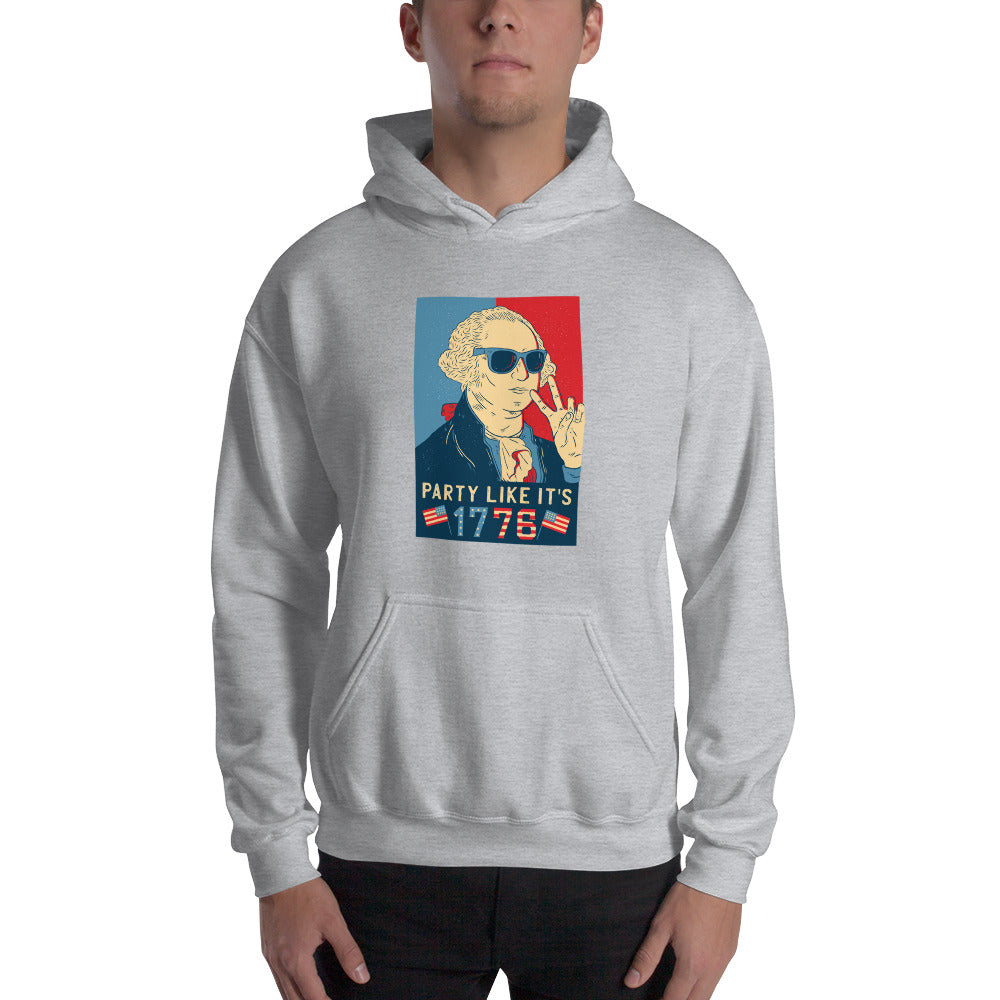men washington party like  its 1778 Hooded Sweatshirt - Khakithreads