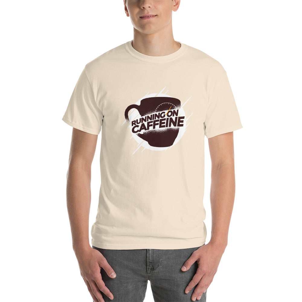 men running on caffeine Short-Sleeve T-Shirt - Khakithreads