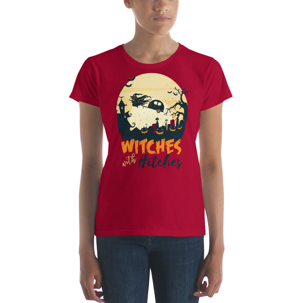 women witches with hitches Women's short sleeve t-shirt