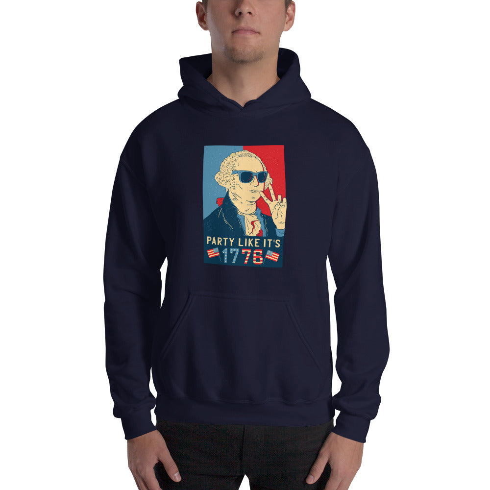 men washington party like  its 1778 Hooded Sweatshirt