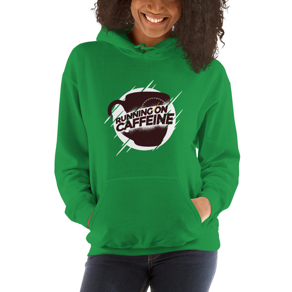 women running on caffeine Hooded Sweatshirt