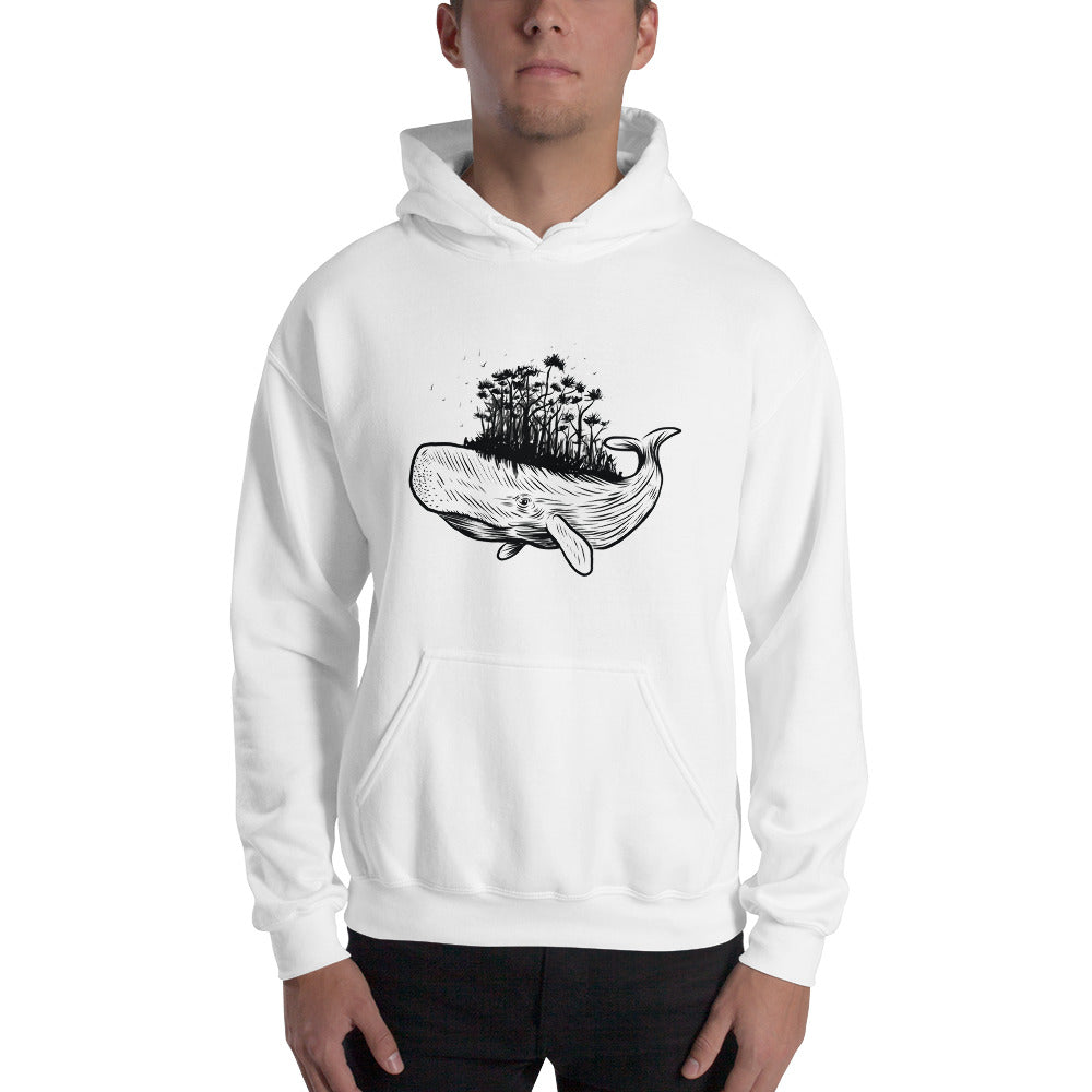 men whale forest Hooded Sweatshirt