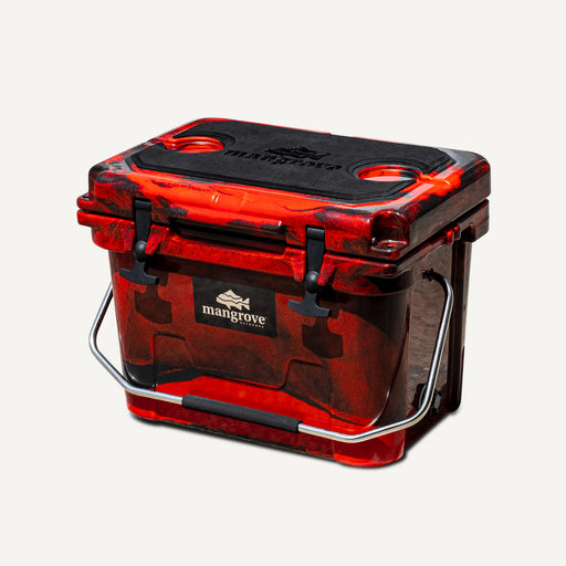 Mangrove Outdoors 20L Esky, Cooler, Icebox, Chilly-Bin, Camping, Fishing, Camo Red