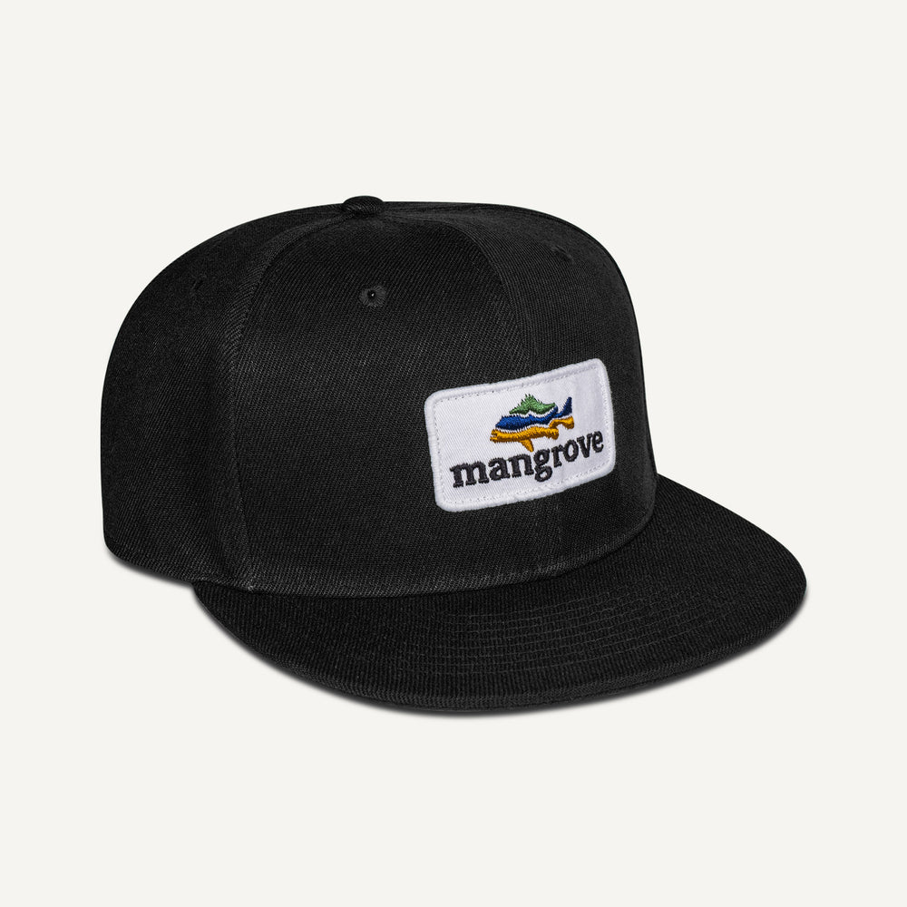 Mangrove Outdoors Black Snapback Cap Fishing Hat