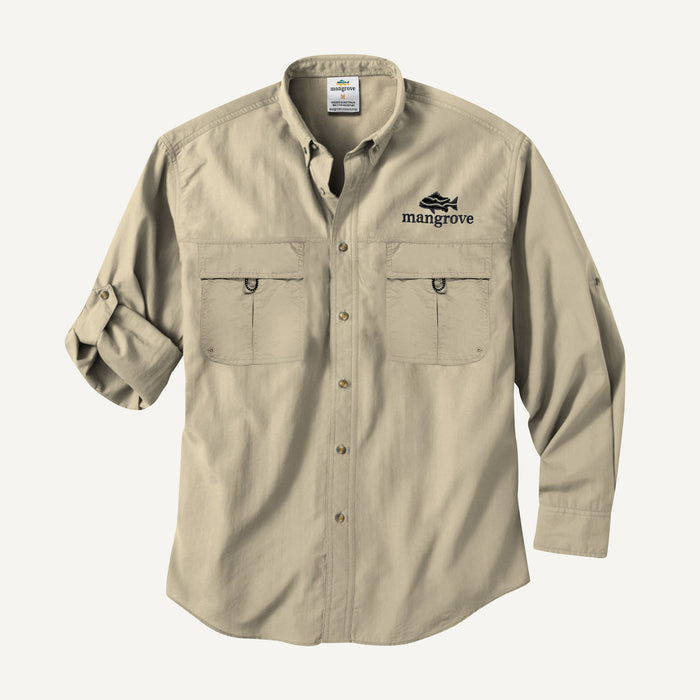 Mangrove Outdoors VentDry Fishing and Camping Shirt, UV Safe SPF30+, fishing-shirt, lightweight, Sand-Colour