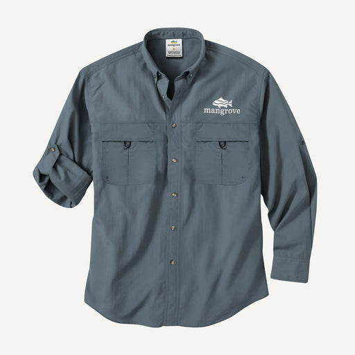 Mangrove Outdoors VentDry Fishing and Camping Shirt, UV Safe SPF30+, fishing-shirt, lightweight, Stone-Blue-Colour