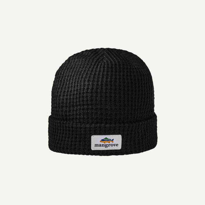 Mangrove Outdoors Black Waffle Beanie Good Fit