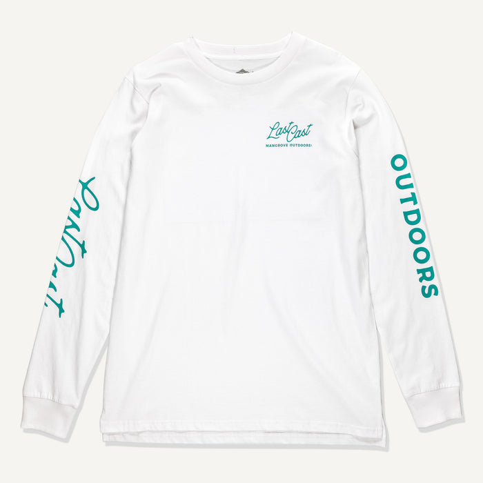 Last Cast LS Heavyweight Tee (White)