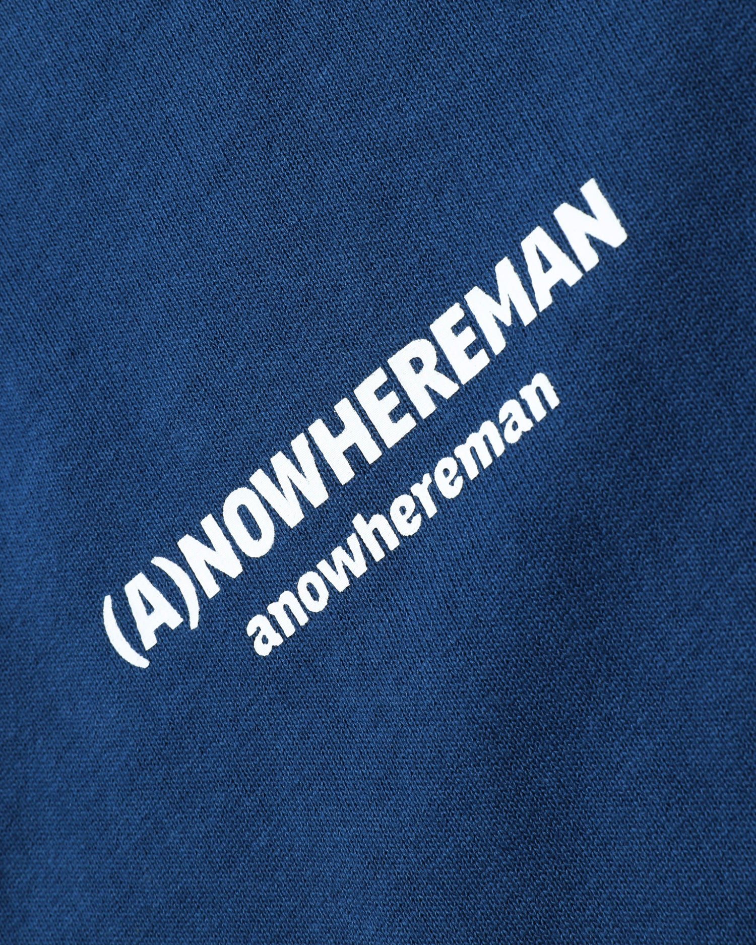 (A)NOWHEREMAN SEW FREE TEE - BLUE