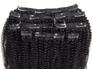Afro Kinky Curly Clip Ins- 3c/ 4a