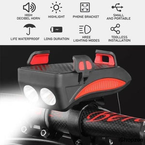 4 in 1 Bicycle Mobile Phone Holder - iShopzee