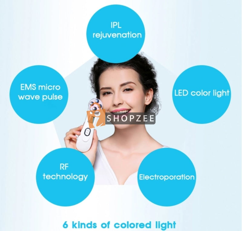 5 in 1 LED Mesotherapy Beauty Wand - iShopzee