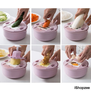 9-in-1 Multipurpose Biodegradable Kitchen Grater - iShopzee