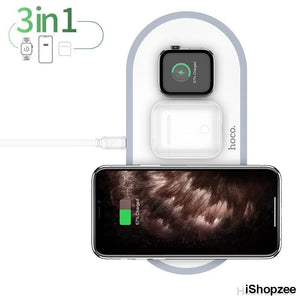 Apple 3in1 Wireless Charging Pad - iShopzee