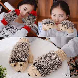 Cute HedgeHog Mittens - iShopzee
