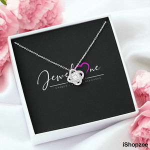 JewelOne™️ Christmas Gift Collection - Love Knot 14K White Gold Necklace - iShopzee