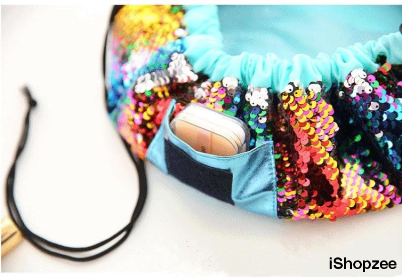 Mermaid Cosmetic Makeup Women's Travel Pouch - iShopzee