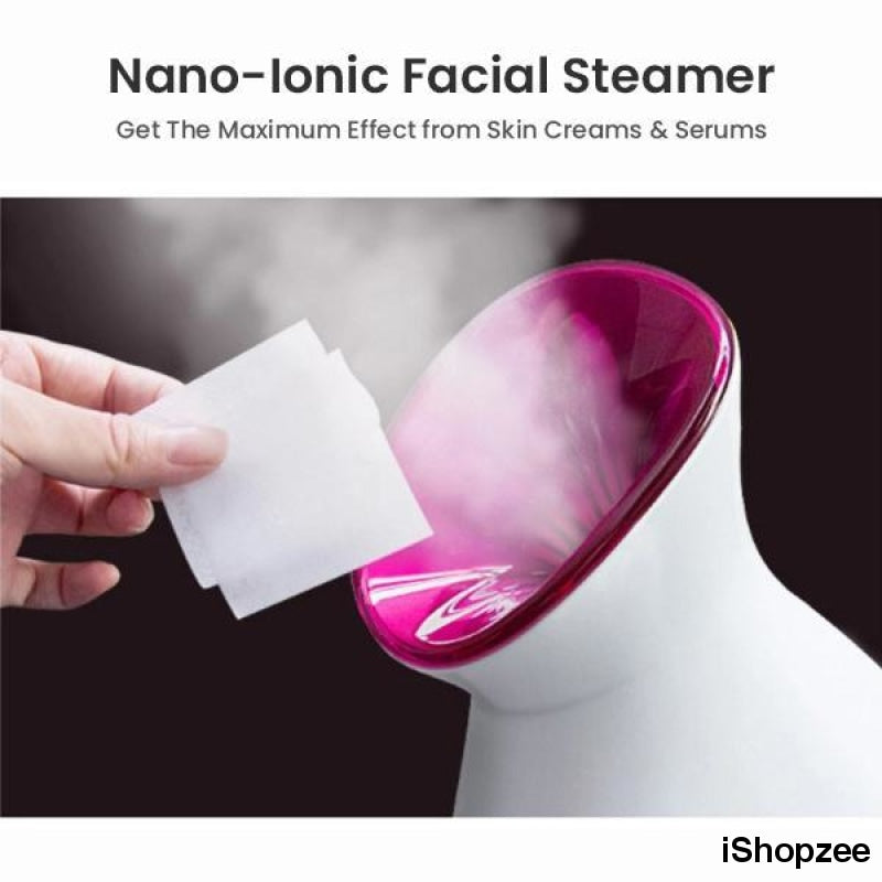 Nano Ionic Facial Steamer - Face Humidifier For Skin, Steam Face At Home - iShopzee