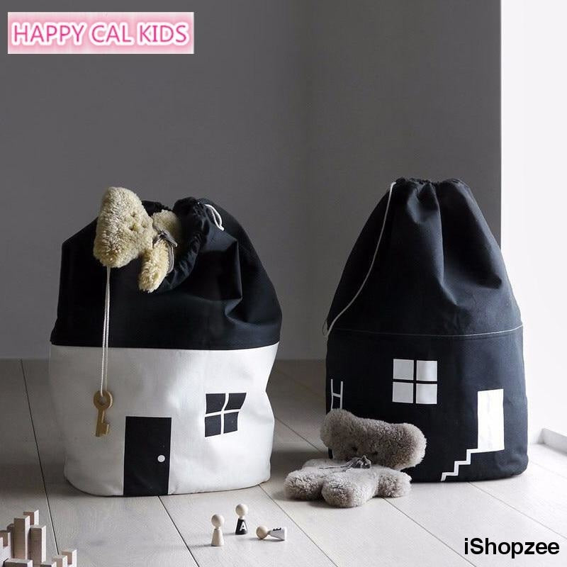 Nordic Style House Shape Baby Toy Storage Bag - iShopzee