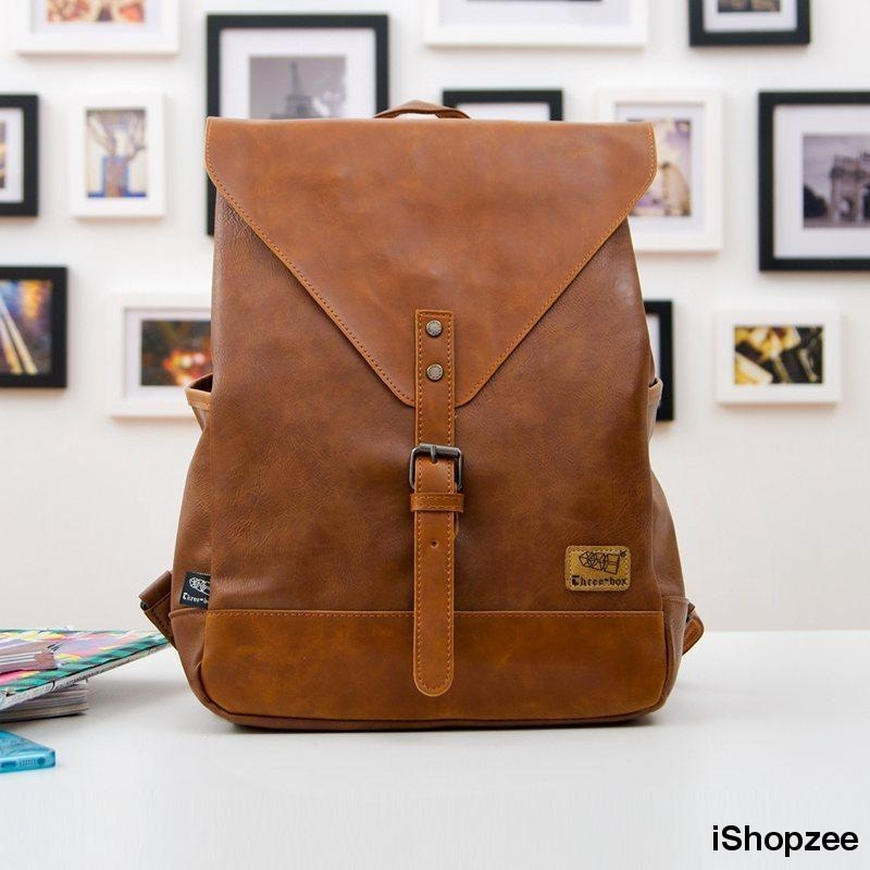 PU Leather Satchel Backpack - iShopzee