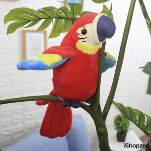 Talking Parrot Plush Toy - iShopzee