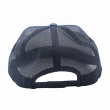 Load image into Gallery viewer, Dallas - Navy and White - Mesh Snapback - Flatbill