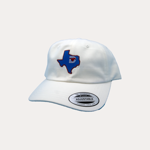 State of Texas / White Dad Hat / Curved Bill